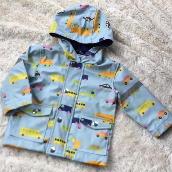 149e38742 Marimekko Jackets & Coats | Baby Boy Blue Car Truck Rain Coat | Poshmark
